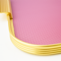 Kaymet Tray - Pink & Gold Diamond